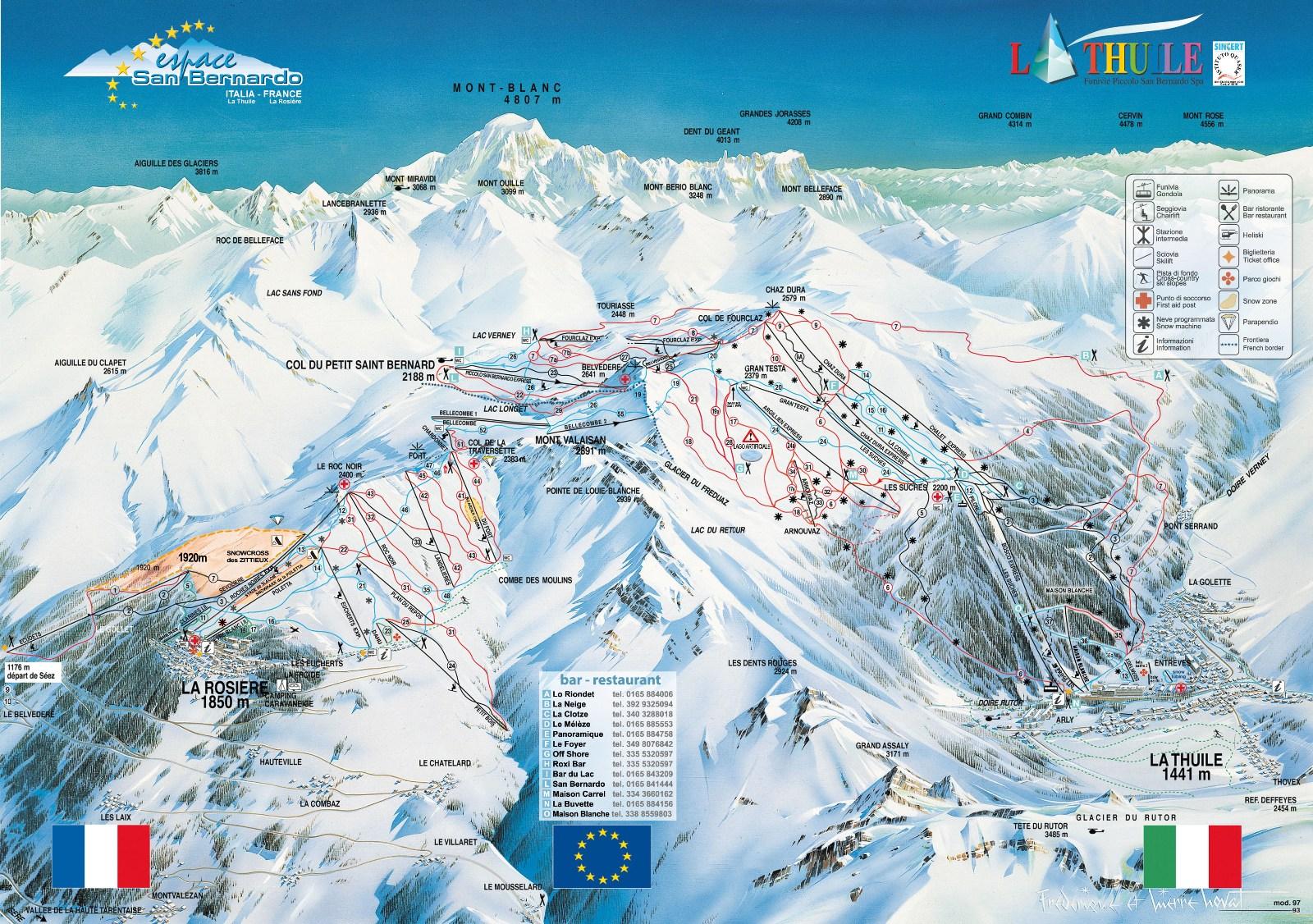 Aosta-völgy, La Thulie-la Rosiere