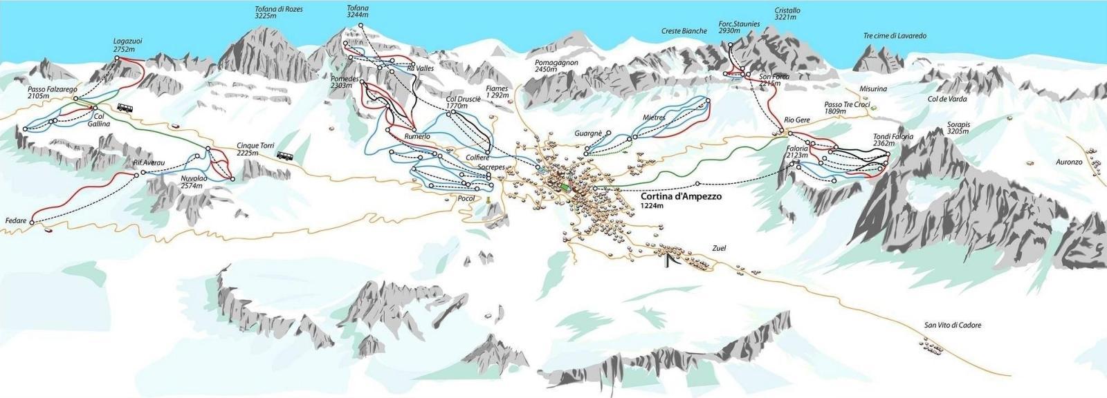 cortina ski map