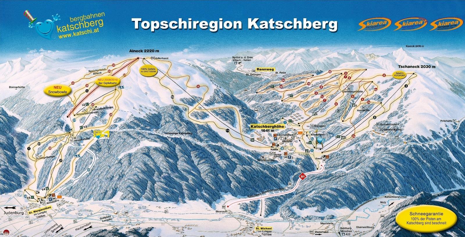 katschberg térkép