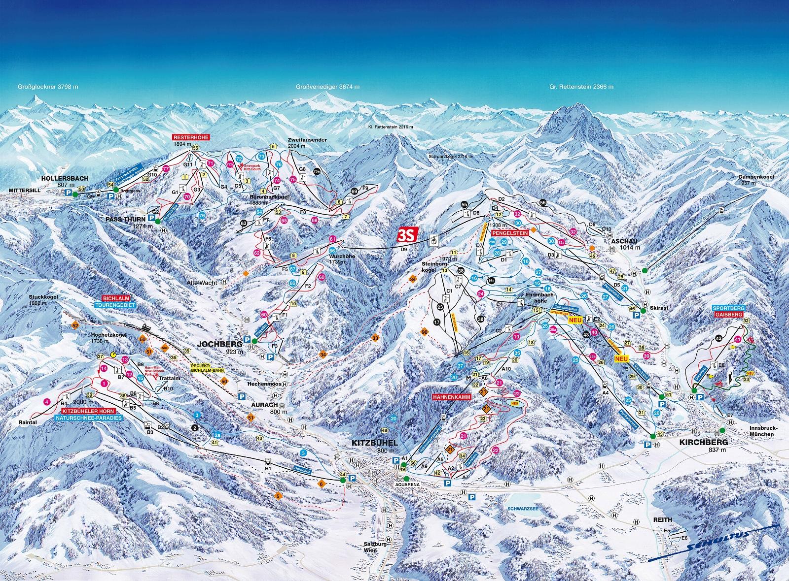 Kitzbühel térkép