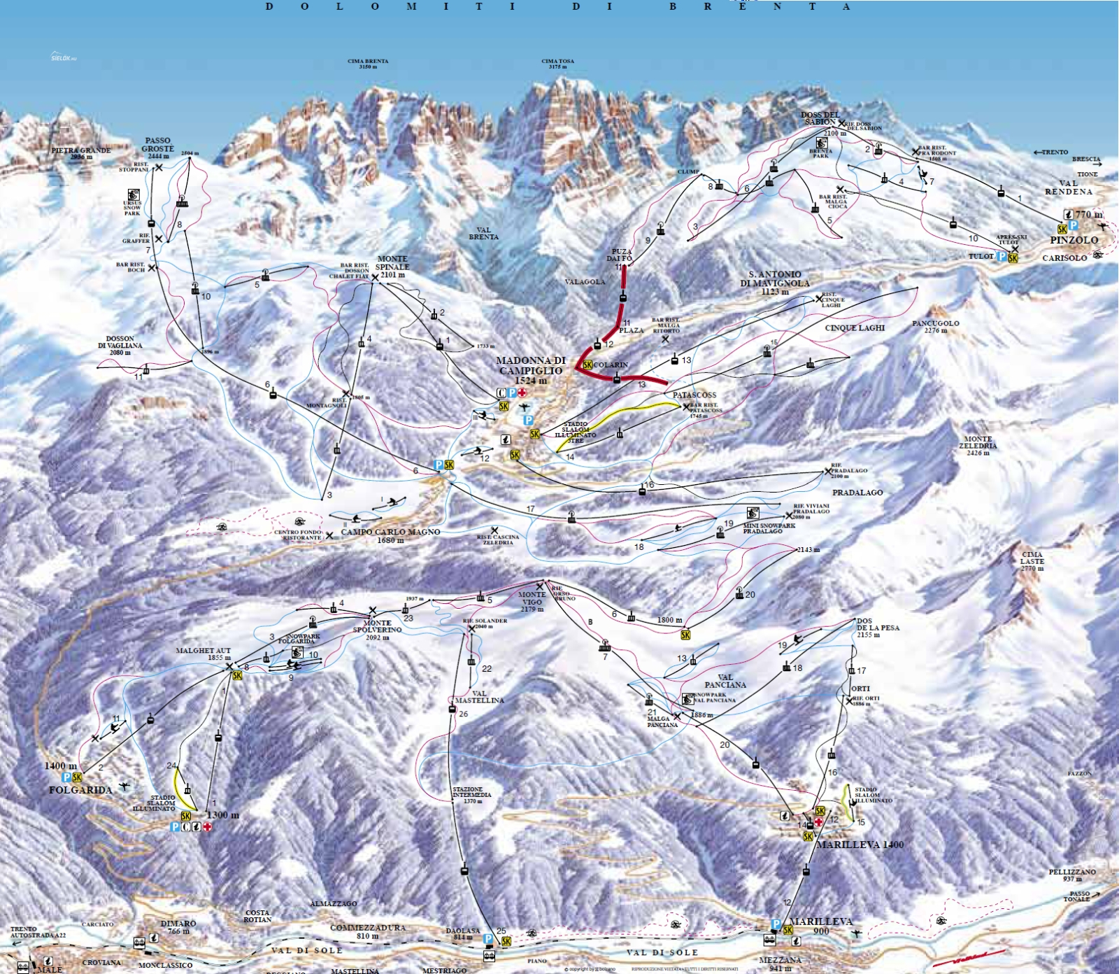 madonna térkép